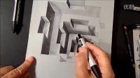 [3D]绘画大师教你手绘3D效果画