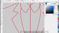 CDR教程自学基础 服装设计2_ 画服装款式图的视频