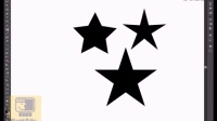 AI自学基础教程第14课程多边形 星型工具 、五星红旗的绘制简单基础教程