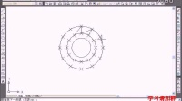 CAD视频教程每日一案例  绘制棘轮