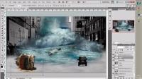 [PS][魔骑座]PS教程 photoshop合成日本海啸 海报设计