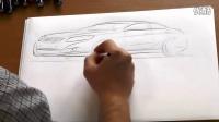 江淮和悦A30 设计师现场演示手绘稿