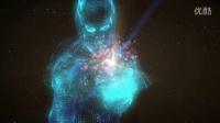 会声会影科技粒子人物演绎logo视频模板B0067