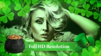 绿色叶子展开图文展示AE模板-St Patrick's Day Special Promo