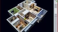 现代家居客厅餐厅整体效果制作建模A