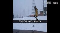 中国美女雪中跳鬼步舞!墨尔本曳步舞 街舞 超清