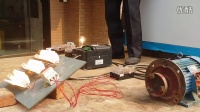 王发刚现场测试自循环磁力发电机