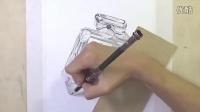 葱二作品:纸上彩铅--《香奈儿5号》
