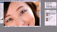 10 PS教程 给MM做双眼皮  PS基础教程 PS加深减淡工具