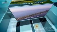 立体空间图片展示动画AE模板