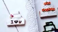 翻糖饼干——婚礼蛋糕系列