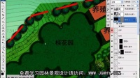 园林景观设计教程_ps彩色平面图_PS画成组植物1