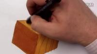 如何马克笔手绘表达木纹材质光影
