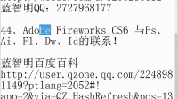 44﹑Adobe Fireworks CS6 与Ps﹑Ai﹑Fl﹑Dw﹑Id的联系!