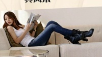 【阿佐】小脚牛仔裤女 打底外穿靴裤