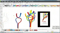 CDR案例教程 七彩创意铅笔 CDR自学教程 CDR X4 X6教程