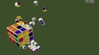 3dmax三维魔方动画采用rayfire插件仿真