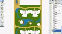 园林景观设计视频教程_ps彩色平面图_小区景观彩平制作02~1
