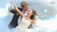 A1027 唯美爱心粒子特效婚礼MV婚纱照电子相册视频照片展示AE模板
