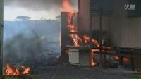 夏威夷火山岩浆烧毁的首个房屋