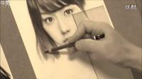 堪比黑白印刷 日本画家超牛真人铅笔素描_高清