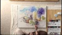 永山裕子-绘制水果和绣球花花絮(紫阳花)
