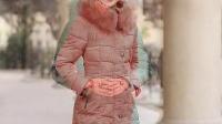 时尚冬装中长款羽绒棉服连帽毛领修身显瘦百搭韩版外套大衣开衫女