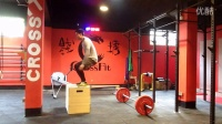 【CrossFit 钱塘】111121 3R of 5 power clean 135lb 10boxjump 15 pull up (4:37)