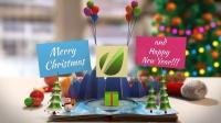 144_圣诞折纸书欢乐动画AE模板