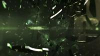 2448[素材TV] 漂浮的太空碎片能源LOGO展示高清AE模板