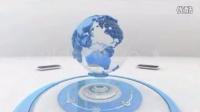 三只水牛【AE模板】高科技商务3D动画地球可循环素材视频制作创意