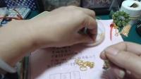 小破人串珠-圣诞花环编制视频教程(一)