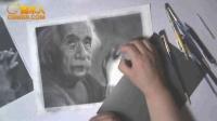 2014.11.25 精细写实人物素描 爱因斯坦(23)