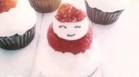 甜心圣诞老人纸杯蛋糕
