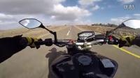 雅马哈 MT 09 改装天蝎排气,高速骑行视频