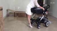 高点 Easywalker婴儿推车高景观可躺可坐四轮婴儿车轻便双向折叠童车安装视频