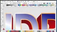 №-CorelDRAW立体字教程_cdr实例字体怎么设计立体字教程_平面设计