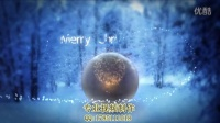 圣诞节主题的粒子光束标志片头AE特效演示