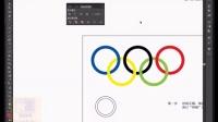 [Ai]30.Adobe illustrator视频基础教程第三十节--分割工具(奥运五环的制作)
