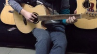 40寸电箱云杉木 电吉他琴头 凯声吉他 试音 格子音乐私塾教师演奏