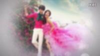 会声会影X6X7模板 浪漫玫瑰花瓣飞舞韩式婚礼电子相册 婚礼开场视频模板 高清