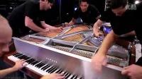 炫爆了!五个人同时弹一架钢琴演奏经典名曲