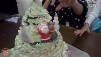 圣诞偶像自制蛋糕圣诞树