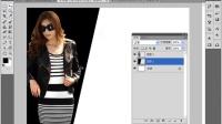 [PS]PS基础PS入门CS5课程photoshop海报设计实战案例视频教程07-斜线分割
