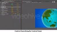 596 世界地图旋转展示动画AE模板