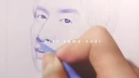 XIAO-丘绘画   圆珠笔画之李光洙第二发