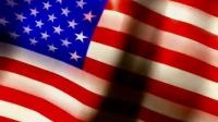 国旗 红白相间50颗白色小五角星的蓝色长方形 高清动态