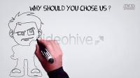 654 公司手绘宣传动画AE模板