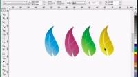 平面设计coreldraw 花卉名片dr教程视频全套下载效果图