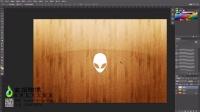 Photoshop带logo的木纹壁纸制作过程